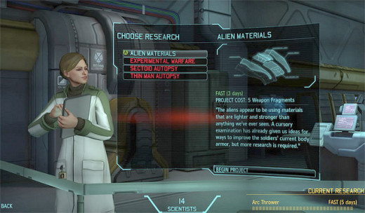 Research is the key to obtaining advanced materials, armor, and weapons.
