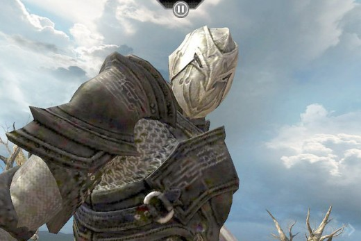 An Infinity Blade character