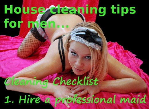 A french maid will provide excellent house cleaning services