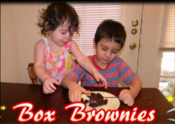 Box Brownies made by a Three Year Old - Funny Video - Easy Activity & Recipe for Kids