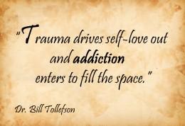 Trauma drives self-love away