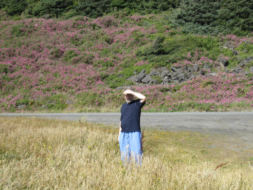 My husband along Gold Beach,Oregon coast.