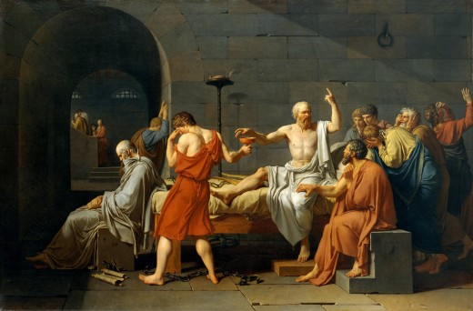 "Jacques-Louis David, ""The Death of Socrates."""