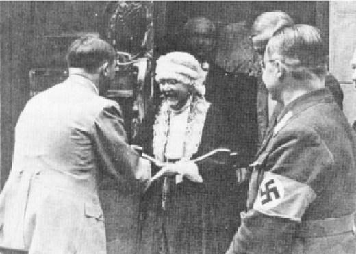 Hitler visits Nietzsche's sister, Elisabeth Foerster.