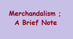 Mercantilism; A Brief Note