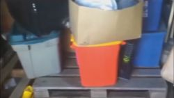 Plastic totes are sold in many convenient sizes.
