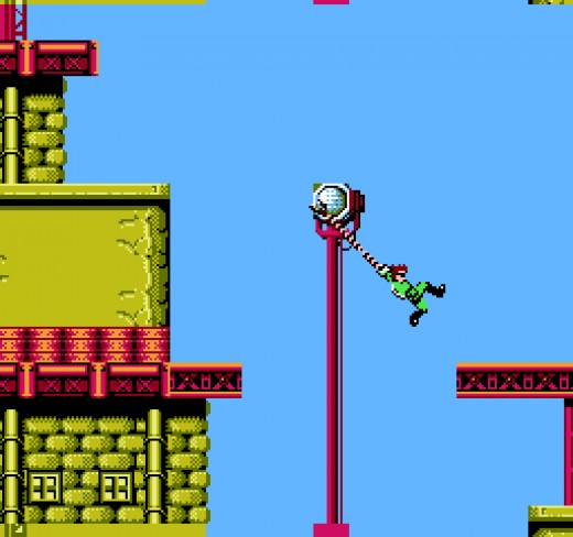 The Grappling Hook Took a Lot of Getting Used to Because You Couldn't Jump. This Was a Feature That Was Easy to Learn, but Hard to Master. No Matter How Good You Thought You Were with This Thing, the Game Would Throw More Difficult Crap in Your Face.