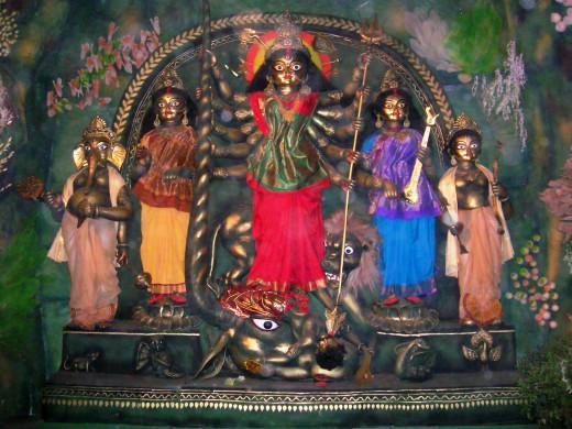 Durga Puja in Ahiritola, West Bengal