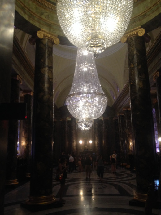 The main lobby of the Gringotts Bank where witches and wizards can conduct business, assuming all the paperwork is in order.