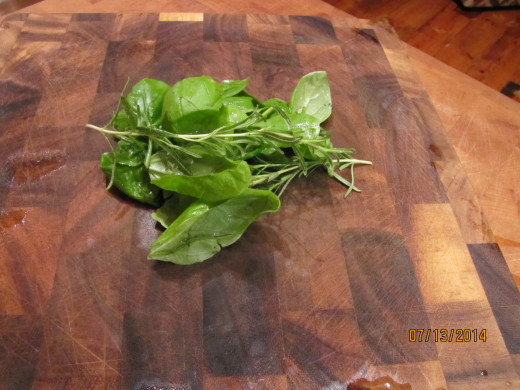Basil, parsley, rosemary