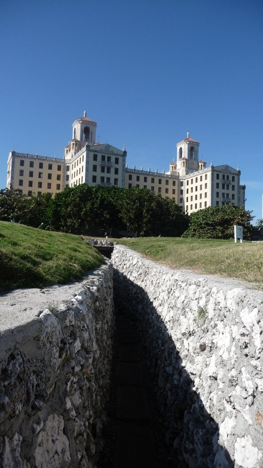 The trenches in the gardens. The hotel was Castro's headquarters during the Cuban missile crisis.