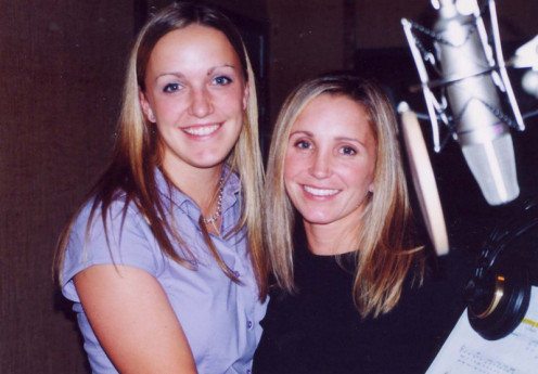 Singers from World on a String:   Joanie Hutchinsin and Nikki Tanner