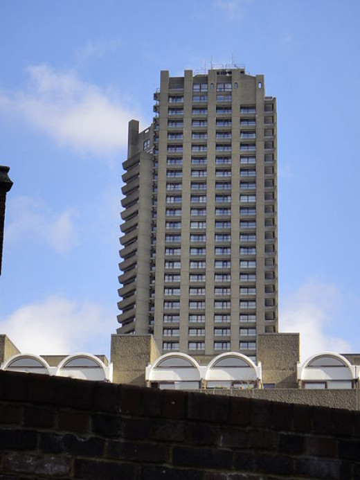 One of the Barbican Estates buildings.
