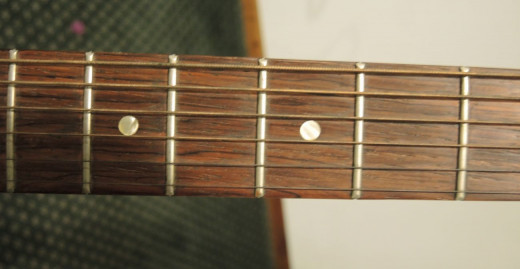 Frets on the Guitar neck