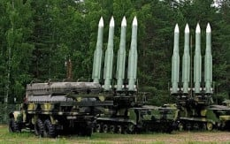 The BuK missile system in the Ukraine area