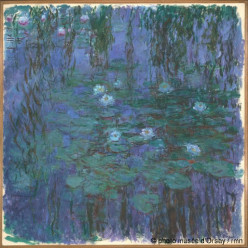 Monet's Water Lilies - 250 different pieces were painted and are on display in galleries around the world.