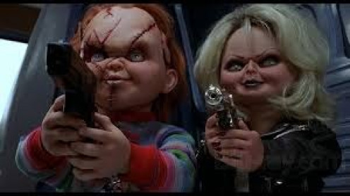 "Chucky has a partner in crime. It's Bonnie and Clyde horror style in the fourth Chucky installment known as ""The Bride of Chucky""."