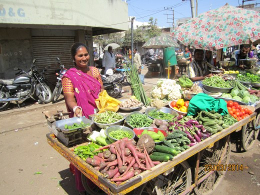 Fresh vegetables from market are better than frozen ones.