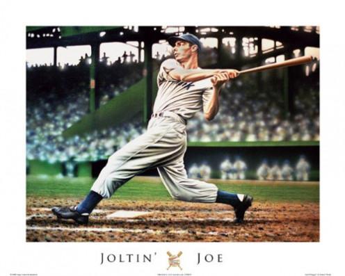 Joe DiMaggio by Darryl Vlasak 16 X 20 Poster