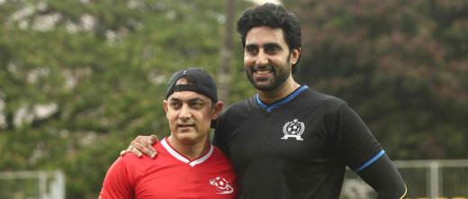 Aamir Khan stealing away the limelight from Abhishek Bachchan in the film Dhoom 3, led to a cold war between the two. However Khan's daughter Ira's organised football match, cleared the air between the two