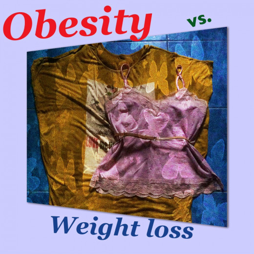 Weight loss and obesity are the two contrasting effects of the two major types of Diabetes Mellitus