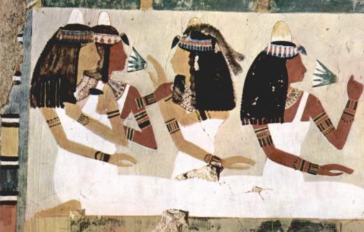 Linen dresses in Ancient Egypt Circa 1448 - 1422 BCE