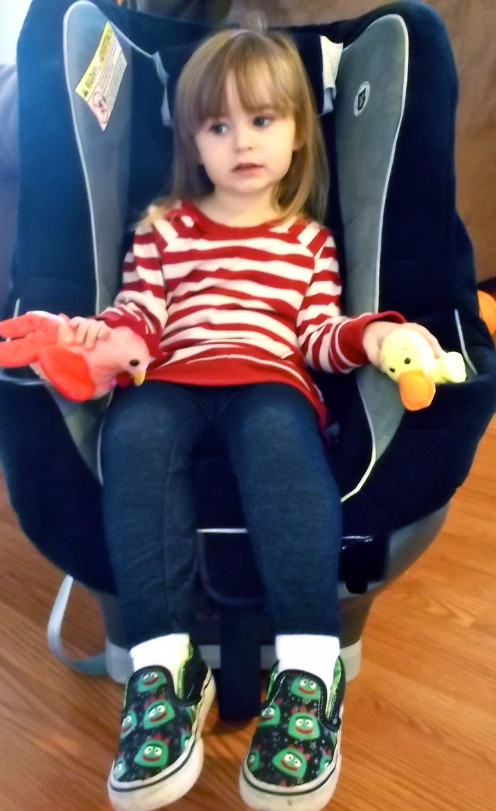 A car seat in the house can double as a mini-throne
