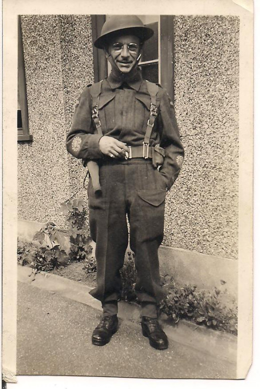 My grandfather, Sergeant-Major Kipling Kilburn, who fought in the European campaign in WWII