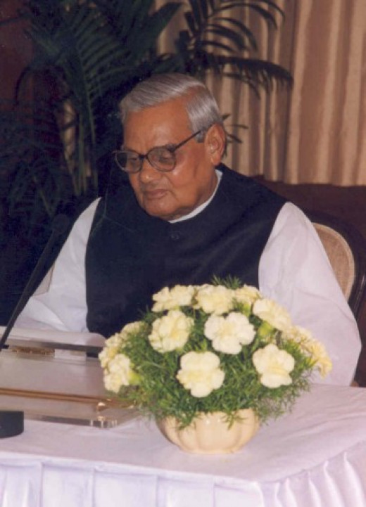 Atal Bihari Vajpayee, The then PM of India