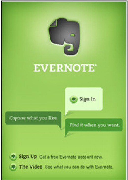 Evernote -one of the most popular free apps for iPhone 3g