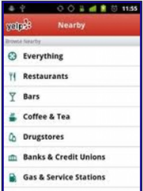 Yelp - an awesome location finder apps for iPhone 3g