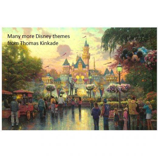 Disney Theme Painting by Thomas Kinkade