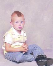 Jackson Ray at 3 years and 5 months old when his sister, Alana (Autistic) was born.