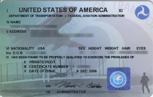 pilot certificate