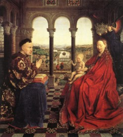 Jan Van Eyck - The Virgin and Child with Chancellor Rolin