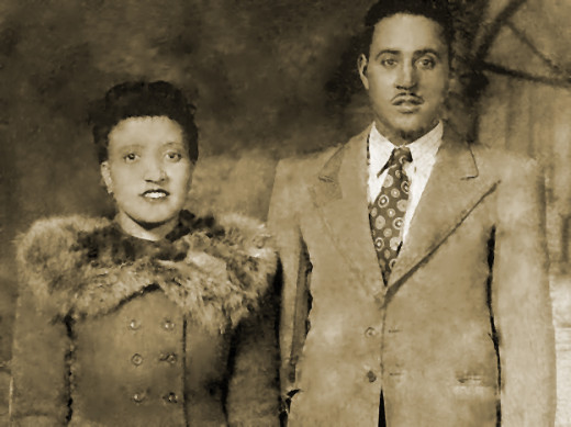 Henrietta Lacks and David Lacks, her first cousin and husband.  The couple had five children together.  All records and family accounts indicate that their marriage was a happy one.