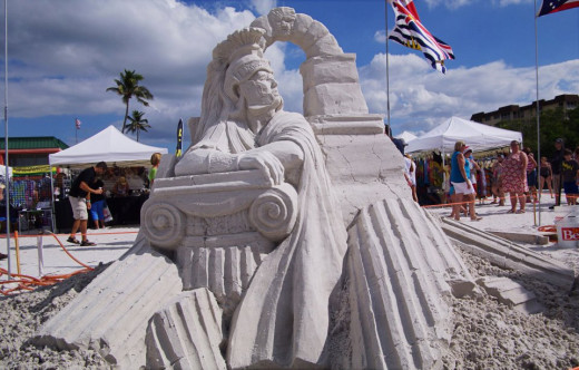First Place World Solo Sand Sculpting Competition
