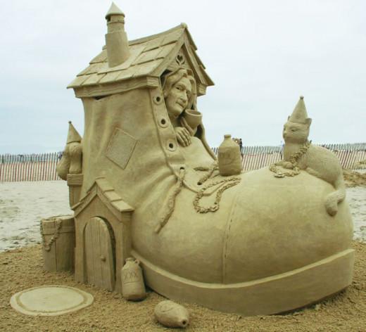 Sand Sculptures on the Beach - Beach Sand Art - Sand ...