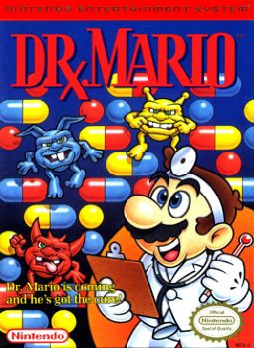 Did anyone ever notice that Dr. Mario is cross-eyed on the cover art? Why does he have to look so derpy? This is kind of how I see doctors though, to be honest. Med school is similar to a lobotomy.