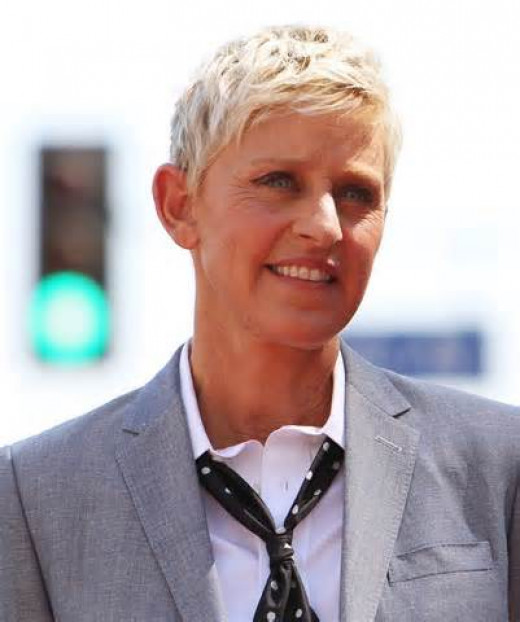 Ellen DeGeneres used to sell vacuums but when that didn't work out she tried some other odd jobs such as working in a glove factory, being an oyster shucker??, and a paralegal.