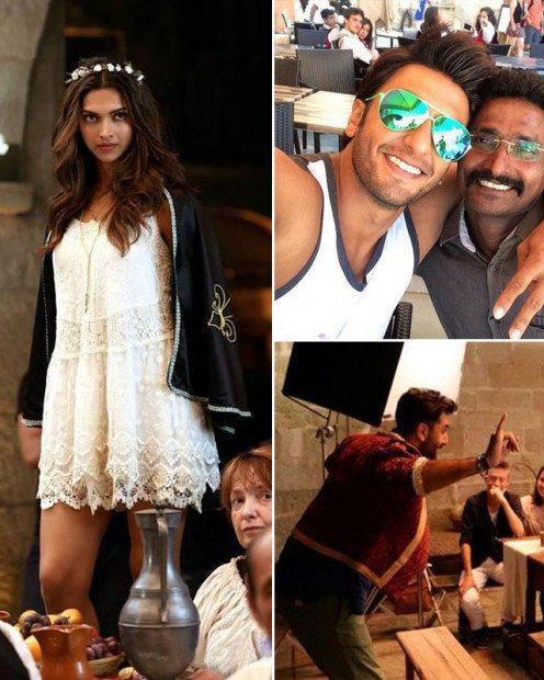Have a glimpse of Ranbir Kapoor and Deepika Padukone from their movie, Tamasha. Also seen on the sets was Dippy's boyfriend Ranveer Singh.