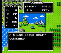 As you walked through the world, you would randomly encounter enemies. They got harder and harder with each area that you progressed  into.
