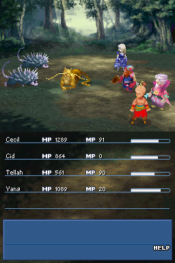 Combat in the Nintendo DS remake of Final Fantasy IV