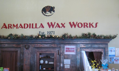 A Candle wax store called Amadilla Wax Work.