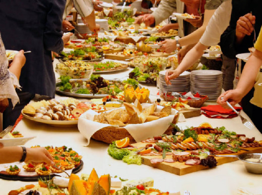 Arrange an elegant full-course buffet