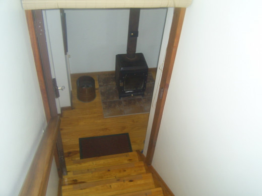 Our wood burning stove downstairs