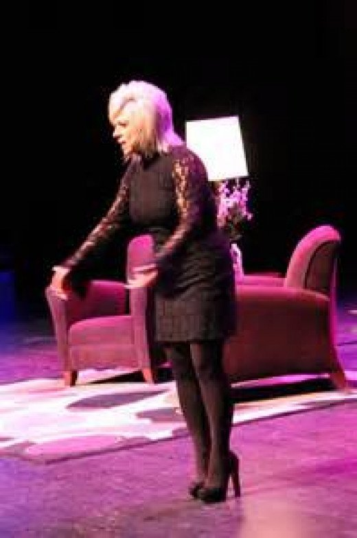 Caputo at her stage show