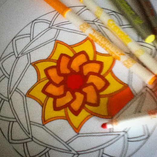 Coloring mandalas are a beautiful way to relax.