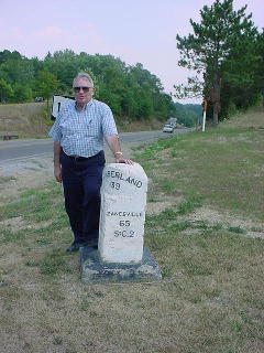 The author on a visit to the area in 2002