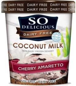 So Delicious Cherry Amaretto Coconut Milk Ice Cream: Dairy Free Deliciousness in Moderation
